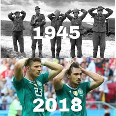 How often history repeats itself. - Hilarious World Cup 2018 Memes That Will Make You Laugh. Or Cry If You're German soccer Funny Football Memes, Soccer Memes, Sports Party, Kids Sports, Satire, Funny Images, Funny Pictures, Little Memes, Swim Team