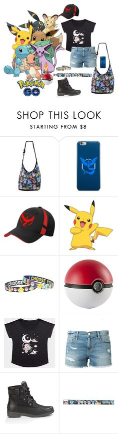 """""""Ready to Play"""" by xmakaix ❤ liked on Polyvore featuring Valor, York Wallcoverings, Frame Denim, UGG Australia, Pokemon and PokemonGO"""