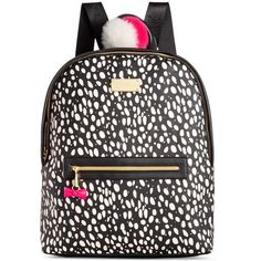 Betsey Johnson Backpack ($98) ❤ liked on Polyvore featuring bags, backpacks, spot, rucksack bag, polka dot bag, dot backpack, betsey johnson and tablet bag
