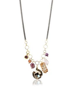 Lionette Designs by Noa Sade Tulum Multi-Charm Necklace, Amethyst/Multi at MYHABIT