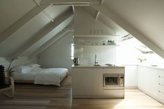 Small-Space Living: An Airy Studio Apartment in a Garage