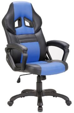 SEATZONE Swivel Office Chair, Racing Car Style Bucket Seat Gaming Chair, Curved High-back Leather Computer Desk Chair for Home, Office and E-sports Use, Red Chairs For Rent, Old Chairs, Chairs For Sale, Computer Desk Chair, Swivel Office Chair, Chaise Gaming, Gaming Chair, Small Grey Bedroom, Car Chair