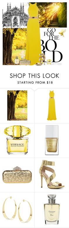 """""""golden sparkle"""" by everlyrose-jc ❤ liked on Polyvore featuring PATH, STELLA McCARTNEY, The Hand & Foot Spa, ALDO, Lana and Christian Dior"""