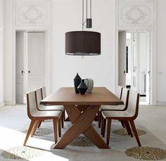 Mesa de madera moderna de Antonio Citterio PLATO MAXALTO