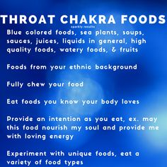 These are foods and eating habits to cultivate that truth for the throat chakra energy. #higherconsciousness #consciousness #chakras #chakra #health #healthier #awake #throatchakra #healing #consciousnessshift #spirituality #enlightenment #spiritual #wisdom #nature #energy #vibratehigher #universe #love #lightworker #lawofattraction #higherself #chakrafoods #positivevibes #peace #communication #spiritualgrowth #spiritualawakening