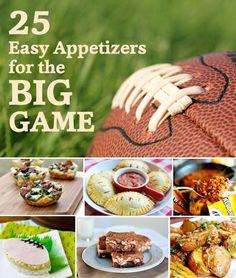 25 Big Game Football Super Bowl Appetizer Recipes! Kara's Party Ideas