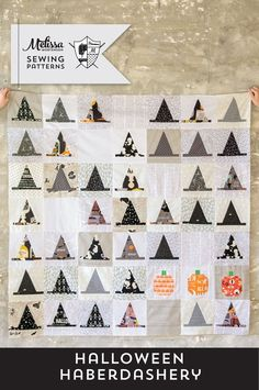 1360c8421 Halloween Haberdashery Quilt PDF Pattern Halloween Sewing Projects