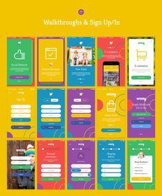 Weeny iOS UI Kit on App Design Served Source by varisaraying Mobile Ui Design, App Ui Design, Interface Design, Flat Design, User Interface, Material Design, Pag Web, App Login, Ios Ui