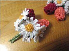 Pretty Crocheted flowers.