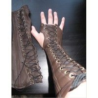 This is for a pair (2) of leather bracers / vambrace This unique bracer is hand crafted from a high