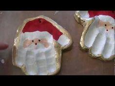 Salt Dough Santa Handprint Ornaments - YouTube