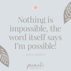 Believe in yourself!  #empowerwomen #instaquote #quoteoftheday #pumeli #subscriptionbox #strongwomen #positivevibes