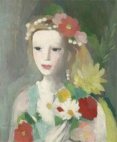 Marie Laurencin jeune_fille_la_guirlande_de_fleurs_1935