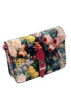 Fashion Flowers Printing PU Leather Single Shoulder Bag