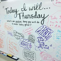 Instagram Photos of All of Miss 5th's Whiteboards for Building Classroom Community!