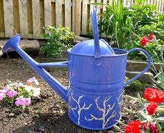 My revamped vintage watering can.