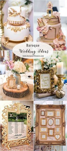 vintage baroque wedding decor idea #weddings #vintageweddings #weddingideas #weddingdecor
