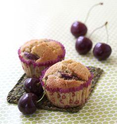 Muffins aux cerises - Recettes de cuisine Ôdélices