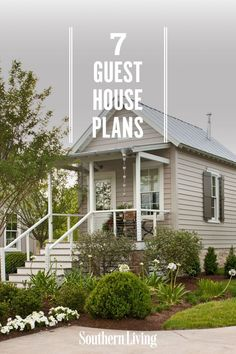 We've rounded up some of the dreamiest guest cottages from our Southern Living House Plans collection that provide all the comforts of a home away from home. #guesthouseplans #guesthouselayout #southernlivinghouseplans #southernliving Guest House Plans, Southern Living House Plans, Cozy Cottage, Home And Away, Cottages, Tiny House, Layout, Homes, How To Plan