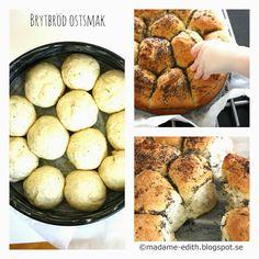 Madame Edith - Recept: Ostfyllt Brytbröd