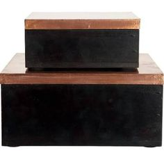 Storage, Simple, Available in 2 Sizes, Copper Finish/Black by House Doctor: Large