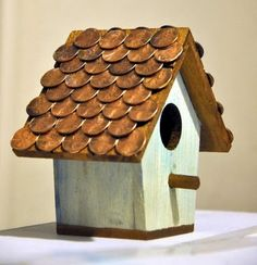 Rooftop for your bird's house :) I bet it will retain a nice temperature…