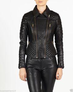 new style Women's Genuine Lambskin Luxury Slim fit sexy Biker Jacket A06 #WesternOutfit #Motorcycle #EveryDay