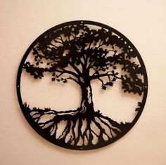 Hard too Find Monochrome Style Woodland Nursery Tree of life - Image Metalscape Tree of Life