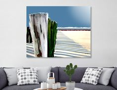 Discover «Abstract Beach Fence», Numbered Edition Aluminum Print by Elaine Plesser - From $59 - Curioos