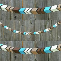 Paper Arrow Garland Aztec Tribal Birthday by CarismaticDesigns www.carismaticdesigns.etsy.com handmade paper goods