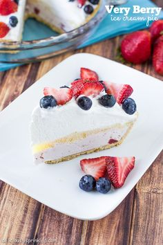 Very Berry Ice Cream Pie- an easy no-bake dessert that everyone will love!