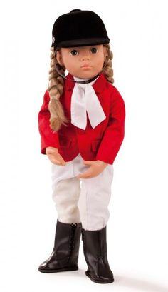 Götz Puppenmanufaktur Multigelenkstehpuppe Happy Kidz Anna Reiterin 50 cm
