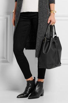 Madewell | Lafayette leather bucket bag | NET-A-PORTER.COM
