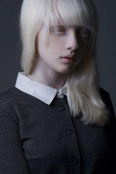 nastya zhidkova albino model
