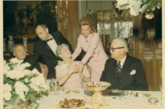 Marjorie Post and Dina Merrill at Hillwood, Washington DC