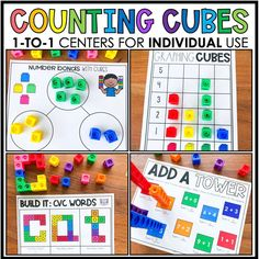 Feeling uneasy about prepping for next year?  Whether you are in the classroom or are teaching virtually, these 1:1 Counting Cubes Centers will come in handy!  Each student will have his/her set of cubes and mats, and they are good to go!  No cutting sets of games/centers for each student! Engage your students at school and/or at home with our 1:1 centers!