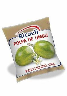 A Polpa de Fruta Riacaeli sabor Umbu é um produto 100% Natural, é Distribuída de Fruit Mix nas embalagens de 100g e 1Kg (10 unidades de 100g)