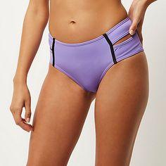 Purple double strap bikini bottoms £10.00