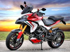 Ducati Multistrada 1200 Enduro - (www. Moto Ducati, Ducati Motorcycles, Vintage Motorcycles, Ducati Multistrada 1200, Ducati Diavel, Ducati 1200s, Scrambler, Motosport, Motor Scooters