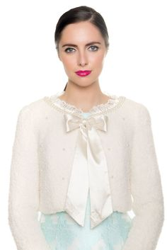 Darcy Pearl Ribbon Bolero www. Summer 2016, Summer Collection, Ribbon, Ruffle Blouse, Pearls, Tops, Women, Fashion, Tape