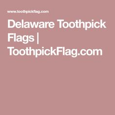 Delaware Toothpick Flags   ToothpickFlag.com