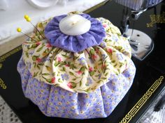 Ruffle YoYo Pincushion