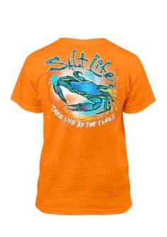 71f4193c9e Salt Life Boys   Life By Claws  Tee Boys 8-20 - Orange - Xl. Salt Life  ShirtsMens ...
