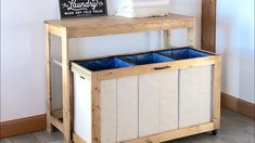 Free woodworking plans from Ana White, a self-taught designer and builder dedicated to helping people create their own furniture. Find the best DIY furniture plans here! Laundry Station, Laundry Table, Laundry Bin, Laundry Sorter, Laundry Hamper, Laundry Cart, Laundry Folding Station, Basement Laundry, Laundry Room Folding Table
