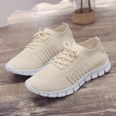 SEXYTOP Women's Breathable Solid Color Mesh Socks Shoes Casual Non-Slip Lightweight Comfortable Running Sport Sneakers, Sneakers Mode, Casual Sneakers, Sneakers Fashion, Casual Shoes, Fashion Shoes, Shoes Sneakers, Women's Casual, Women's Fashion, Most Comfortable Shoes