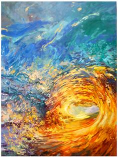 Art Water in Sunset Painting // Let it Wash over you // Large Professional Archival Quality Print of Original Oil Painting // 12 x 16 on Etsy, $45.00