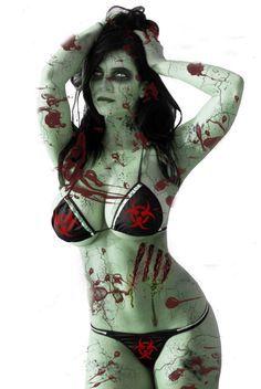 Hot Chick Undead Zombie Walker Babe Bikini
