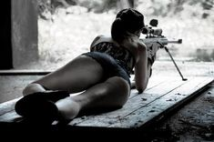 Me Shooting my Snake of an EX!! Might need more bullets!! Sexy and awesome all at the same time!