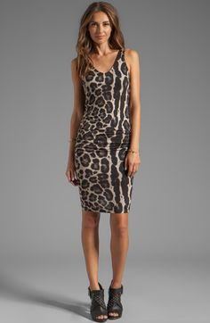 VELVET By Graham & Spencer Armida Sleeveless Leopard Print Dress Brown XS $128 #Velvet #Dress #Casual
