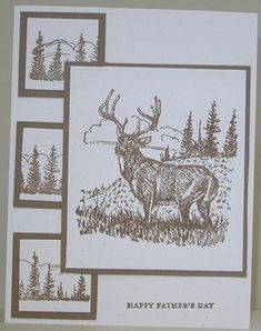 stampin up noble deer stamp - Google Search
